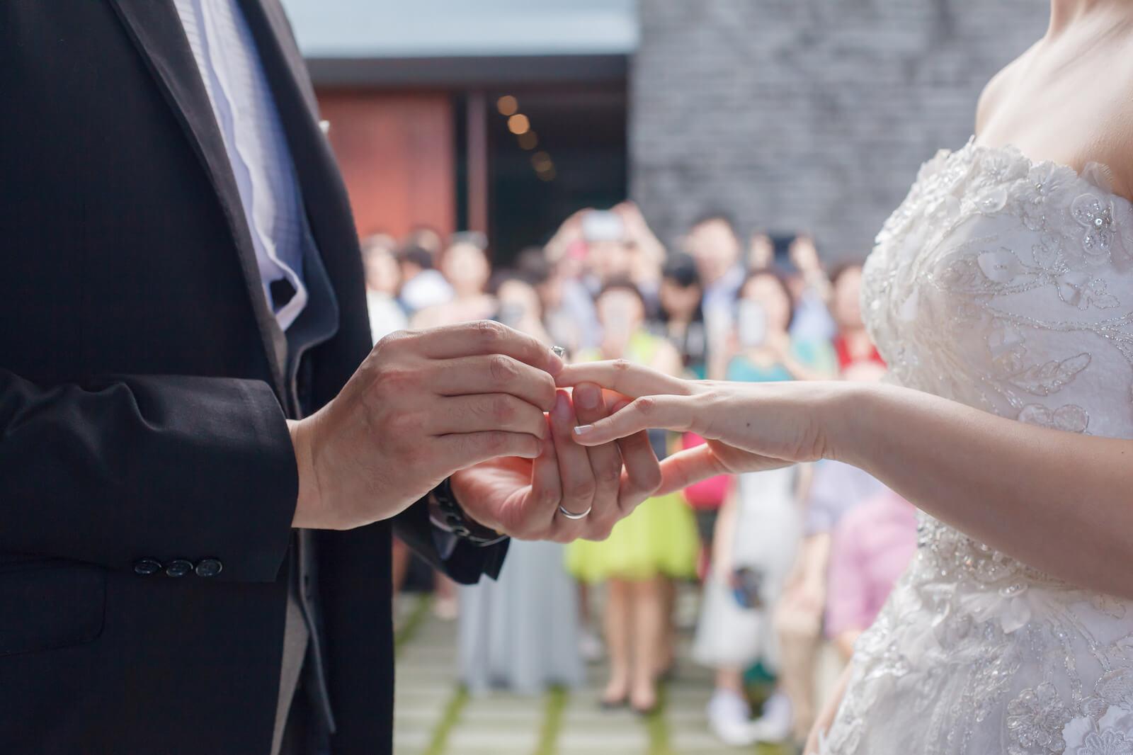 婚禮交換對戒